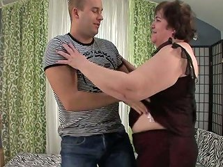 Obese Old Slut Iris Is Having Dirty Sex With Young Lover