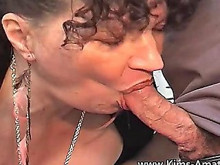 Mature Big Boobed Kim Gives Out The Blowjobs