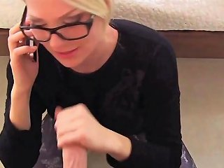 Hot Blonde German Teen Getting Fucked While On The Phone