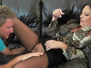 Horny Mature Gets Fucked By A Young Stud
